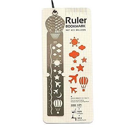 Amazon Com 4pack Ultrathin Metal Bookmark Ruler Templates Stencil