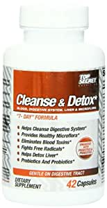 Top Secret Nutrition 4-way Cleanse and Detox Capsules, 42 Count