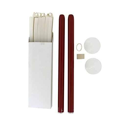 Forever Candles Refillable Taper Candles Starter Set (Crimson)