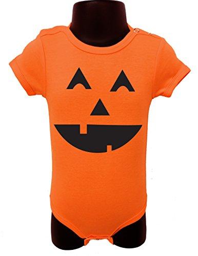 Allure & Grace Funny Baby Onesie Romper Bodysuit baby shower custom gift orange - Onesie No Face