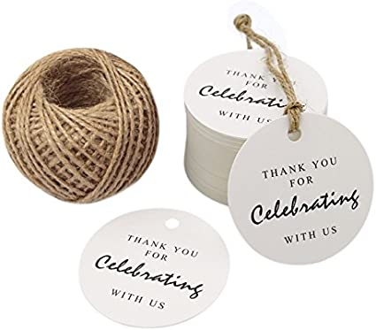 Thank You For Celebrating With Us Wedding Labels Stickers Gift String Sticker