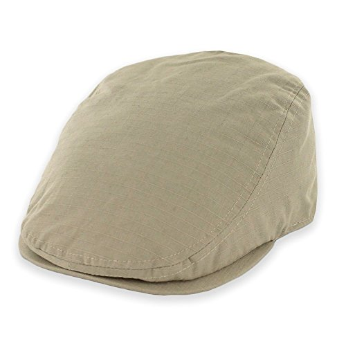 Belfry Street Tonic Lightweight Cotton Ripstop Ivy Cap in 3 Colors (Large, Tan)