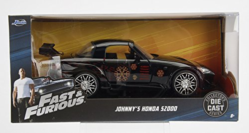 NEW 1:24 W/B JADA FAST & FURIOUS COLLECTION - Johnny's 2001 Honda S2000 Black