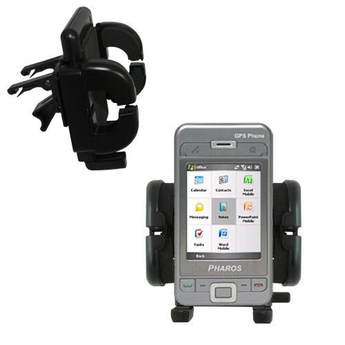 Innovative Vent Cradle Vehicle Mount designed for the Pharos PTL600 - Adjustable Vent Clip Holder for Most Car / Auto Vent Systems (Pharos Gps Systems)