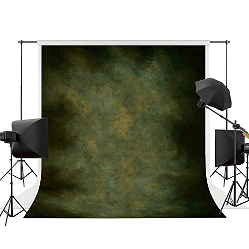 Allenjoy Professional Portraits Photography Backdrop 6.5x10ft Nature Green Abstract Texture Old Master Background Oil Painting Digital Printed Photo Studio - Painting Background Oil