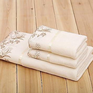 Regalo de Navidad toalla microfibra Puntilla Toalla de baño y toalla, Juego de 3: Amazon.es: Hogar