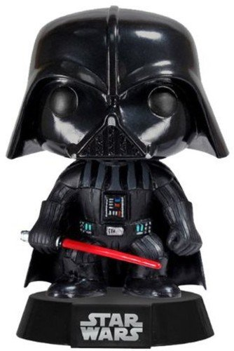 Funko Darth Vader Figura de Vinilo, coleccion de Pop, seria Star Wars, Color Negro, Rojo (23