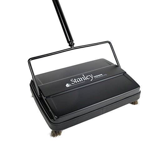 STANLEY HOME PRODUCTS Electrostatic Carpet and Floor Sweeper-9'' Path-Black by STANELY HOME PRODUCTS