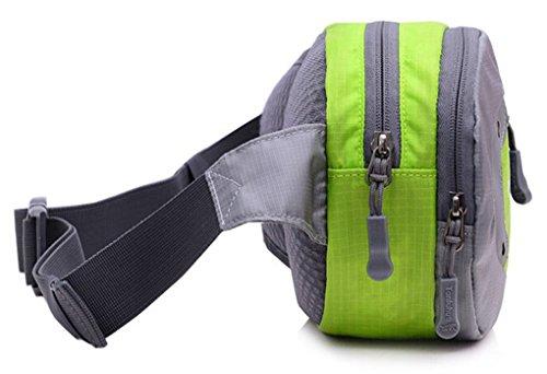 Smartstar Damen Herren Casual Reise Sport Wander Gürteltasche Bauchtasche Hüfttasche - Verschiedene Wege zu Trage Mit Multifunktions (Grün)