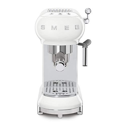Smeg ECF01WHEU – Cafetera Espresso, Blanco