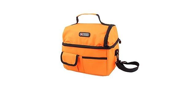 Amazon.com: eDealMax Nylon rectángulo Food Drink Holder hielo caliente refrigerador de almacenamiento lleva el bolso de mano de Orange: Kitchen & Dining