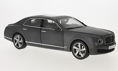 BENTLEY Mulsanne Speed, matt-Dark Grey, 2014, Model Car,, Kyosho 1:18