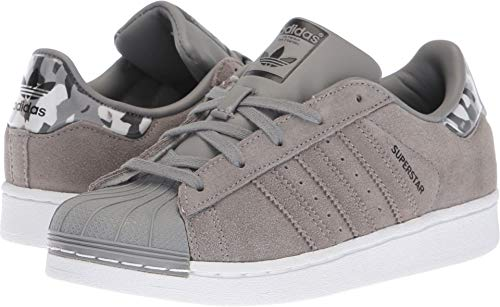 adidas Originals Unisex Superstar Sneaker ch Solid Grey/White, 13K M US Little Kid by adidas Originals
