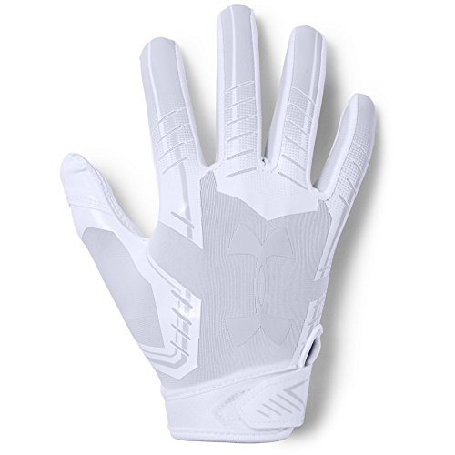 Under Armour boys F6 Youth Football Gloves White (100)/White Youth Small