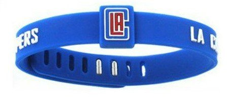 2015 NBA Official Licensed Adjustable Baller Band Wristband Bracelet Souvenir - Los Angeles Clippers (Clippers Wristband)