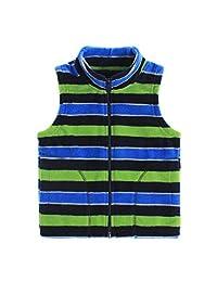 JiAmy Boys Kids Fleece Vest Sleeveless Full Zip Gilet Warm Outerwear for 1-6 Years