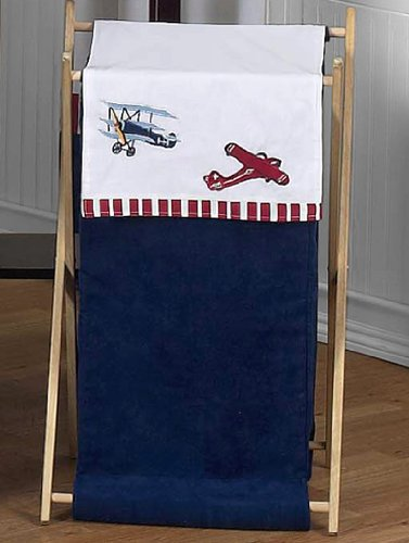 Baby and Kids Clothes Vintage Aviator Airplane Laundry Hamper by Sweet Jojo Designs, Baby & Kids Zone