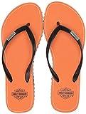 HARLEY-DAVIDSON Women's Finsin Flat Sandal, Black, 10.0 M US