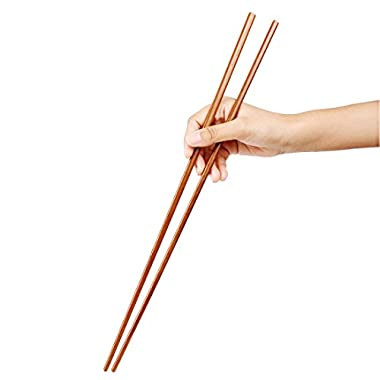 Uxcell Bamboo Noodles Cooking Chopsticks 42cm Length 2 Pairs Brown