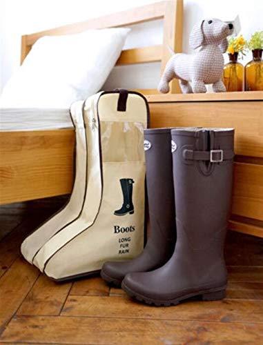 Znyo Botas a Prueba de Polvo de Larga duración Zapatos Zapatos de Viaje de Almacenamiento Wrap (Beige) (Color : Beige, tamaño : Talla única) Beige