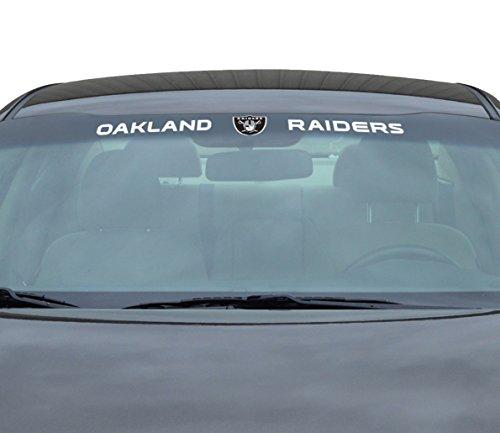 Team ProMark NFL Oakland Raiders Windshield Decal, Black, Standard