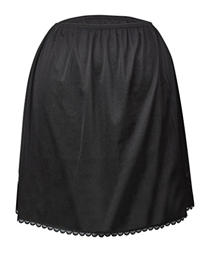 Valair Women's Classic Half Slip Skirt, 100% Nylon, 26 Inch, 3X-Large, Black