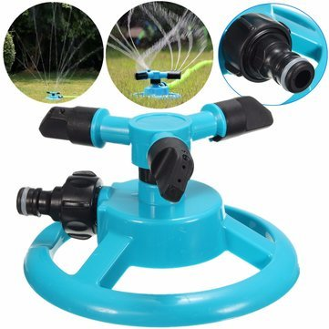 Watering & Irrigation - 1/2 Inch Three Heads Rotation Sprinkler Garden Lawn Watering Irrigation Spraying Nozzle - 1PCs