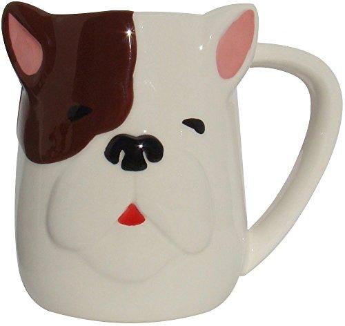 TAG Bulldog Figural Hand Painted Mug 16 Ounce