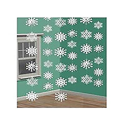 Christmas Snowflake String Foil, 6 Ct. | Party Decoration: Toys & Games