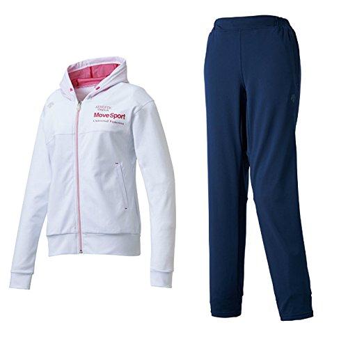 デサント(DESCENTE) レディース サンスクリーン トレーニングジャケット&パンツ上下セット(ホワイト/ホワイト) DMWLJF10-WHT-DMWLJG10-WHT B07BGS44KC L|ホワイト×Dネイビー(WHT/DNVY) ホワイト×Dネイビー(WHT/DNVY) L