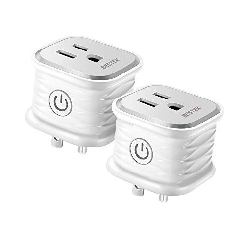 BESTEK Smart Plug,WiFi Smart Plug 10A 1250W Max Works with Alexa Echo Google Home and IFTTT, No Hub Required,White