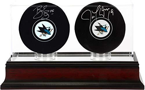 Brent Burns and Joe Thornton San Jose Sharks Autographed Hockey Pucks with Mahogany Two-Puck Case - Fanatics Authentic ()