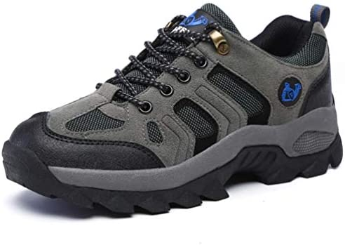 トレッキングシューズ メンズ ハイキングシューズ 登山靴 アウトドアシューズ 透湿性 軽量 グレー毛入れ 防滑 厚い底 ローシューズ 23.0cm-29.0cm 24.0cm ハイキング メンズ レディース 登山 アウトドア 耐摩耗性 通気性