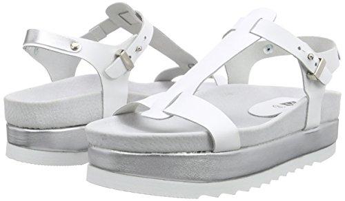 Blanco Con Mujer 141002 Sandalias Unbekannt Plataforma fwSa8xq