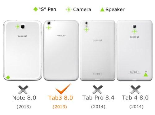 MoKo Samsung Galaxy Tab 3 8 0 Keyboard Case - Wireless