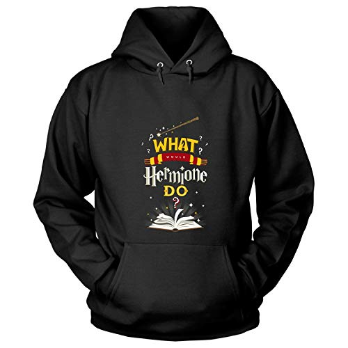 What Would Hermione Do T Shirt, Movies Fan T Shirt - Hoodie (S, Black)