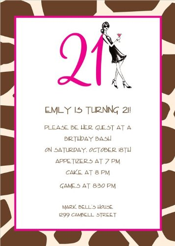 Image Unavailable Not Available For Color 21st Birthday Soiree Invitations