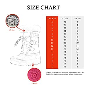 DREAM PAIRS Boys & Girls Faux Fur-Lined Ankle Winter Snow Boots
