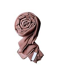 Voile Chic Earth Grey Premium Chiffon Hijab (Non-Slip)