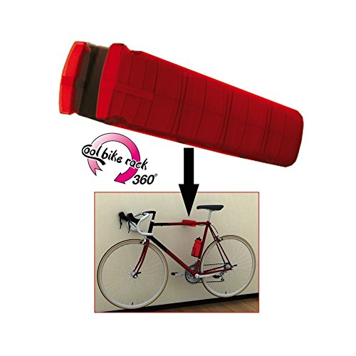 Figo! by Peruzzo 1-Bike 360 Degree Adjustable Wall Mount Storage & Display Rack, Victory Red For Sale