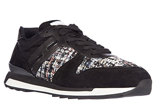 Hogan Rebel Damesschoenen Suede Sneakers Sneakers R261 Allacciato Zwart