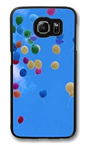 balloon sky PC Case Cover for Samsung S6 and Samsung Galaxy S6 Black
