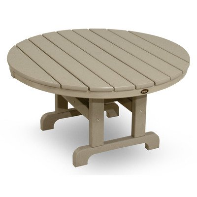 Trex Outdoor Cape Cod Round Conversation Chat Table Color: Sand Castle, Table Size: 36″