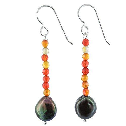 Orange Agate Earrings - 1