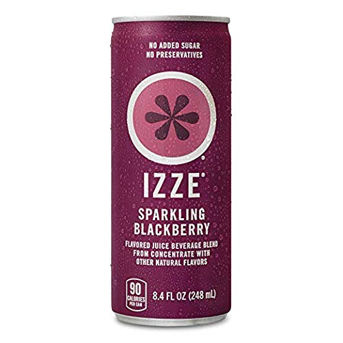 IZZE Sparkling Juice, Blackberry, 8.4 oz Cans (Blackberry, Pack of 48 Cans)