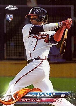 Amazoncom 2018 Topps Chrome Baseball 193 Ronald Acuna Jr