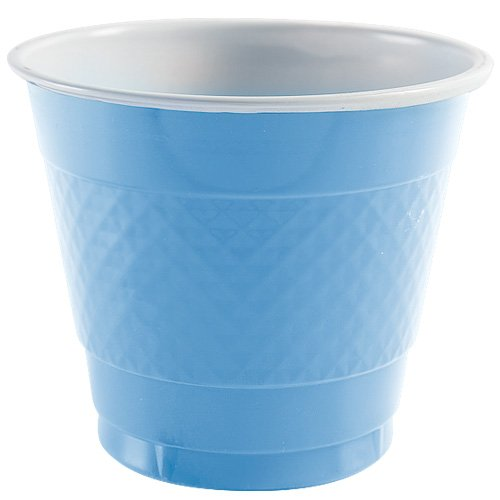 Party Dimensions 81181 18 Count Plastic Cup, 9-Ounce, Light Blue