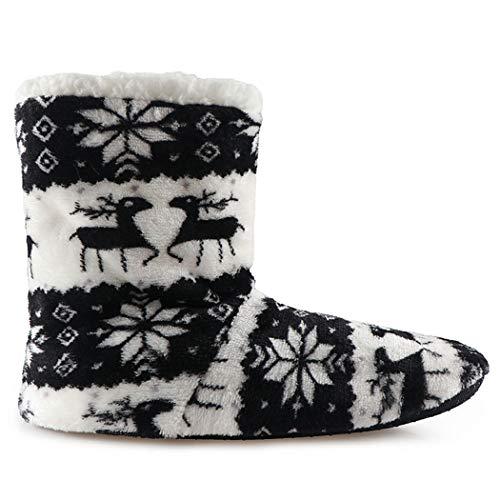 Unisex Outdoor Nero Uomo Calde Casa Cute Emoji Indoor Boots Scarpe Funny Women Spring Slippers House Peluche Da Aq11wt0F