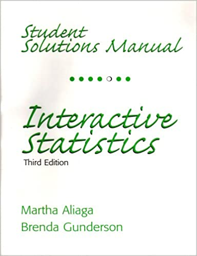Amazon Com Student Solutions Manual For Interactive Statistics