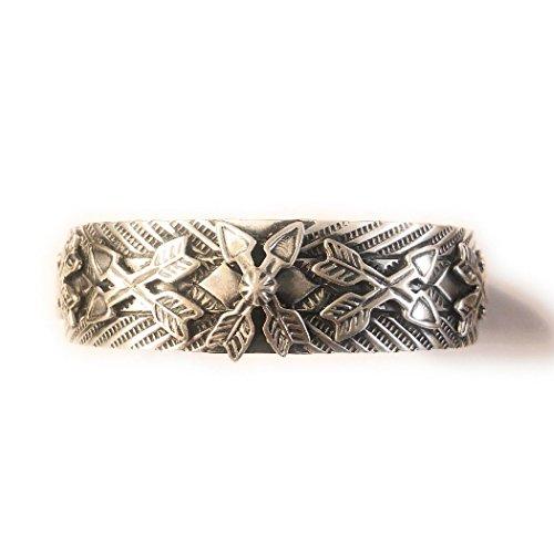 Cuff Signed Bracelet (Nizhoni Traders LLC Martha Cayatineto Sterling Silver Navajo Hand Made Cuff Bracelet Signed)